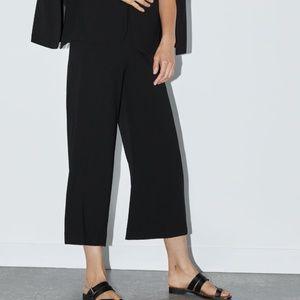 Zara Women High Waisted Crop Pant Black